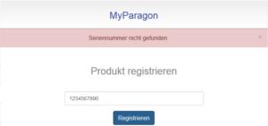 """Fehlermeldung: """"Seriennummer nicht gefunden"""""""