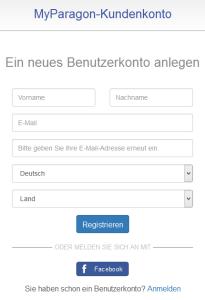 Kundenkonto anlegen, Stammdatenformular
