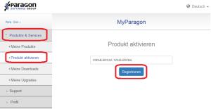 Produkt registrieren