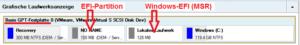 Typisches Layout einer GPT-Festplatte