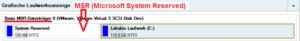 Typisches Layout einer MBR-Festplatte