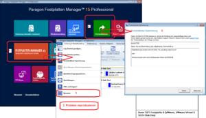 Ablauf: Paragon-Log-Dateien in der WinPE-Rettungsumgebung erzeugen