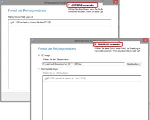 Kein ISO unter Windows 8.1 ohne ADK möglich.