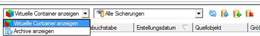 Auswahl Archivformat