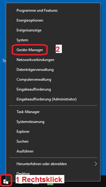 Geräte-Manager aufrufen