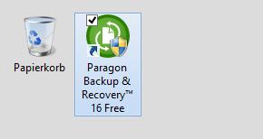 Programmsymbol auf dem Desktop