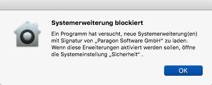Systemerweiterung blockiert