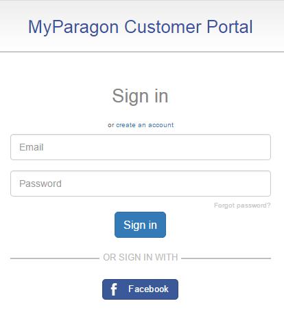 Log Into MyParagon Portal Using Facebook Account › Knowledge Base