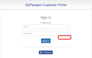 "sign in dialog, click ""forgot password"""