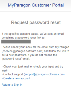 """""""forgot password"""", explanation how to continue"""