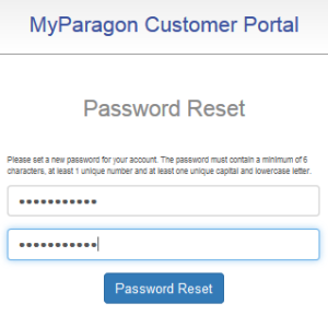 """forgot password"", set new password two times then click ""Password reset"""