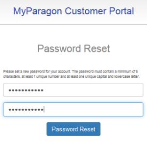 """forgot password"", set new password two times then click ""Password reset"""