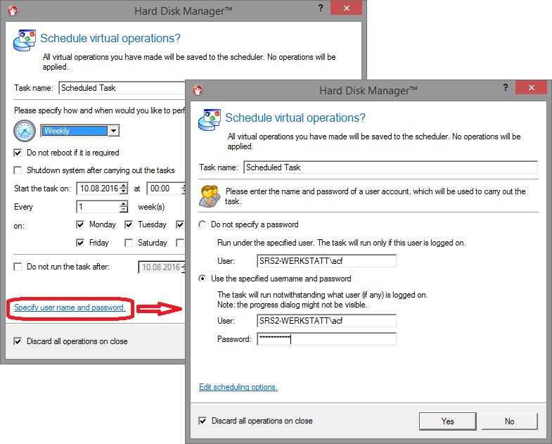 Error 0x200000c, enter username and password