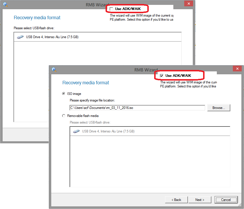 No ISO selectable for WinPE on Win 8 1 or Win 10 › Knowledge Base